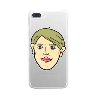 ブロンド Clear smartphone cases