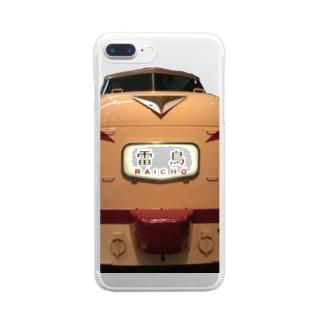 雷鳥485系 Clear smartphone cases