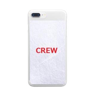 航空 グッズ CREW Clear smartphone cases