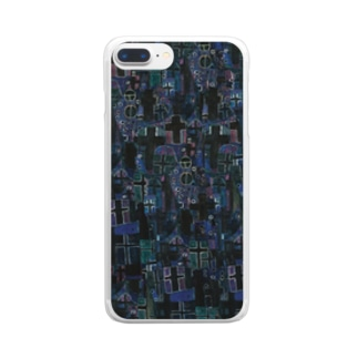 クリムト「生と死」死神から Clear smartphone cases