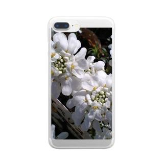 シュガーキャンディー Clear smartphone cases