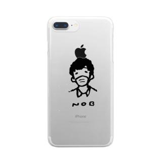 のぶだよー Clear smartphone cases