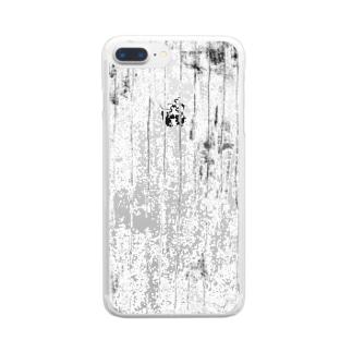 ガサガサストライプA Clear smartphone cases