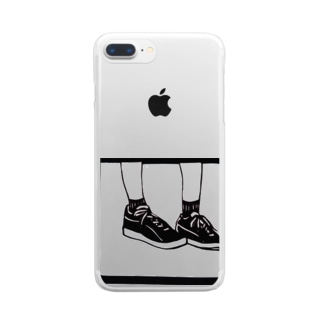 sneaker(girl) Clear smartphone cases