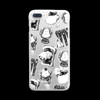 レモネードプールのオバケちゃん総柄クリアスマートフォンケース