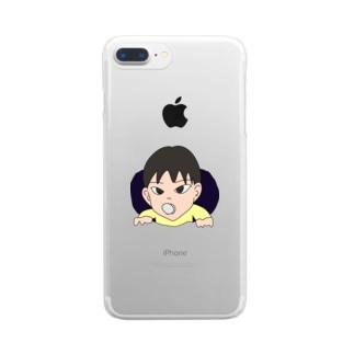 バブちゃん Clear smartphone cases