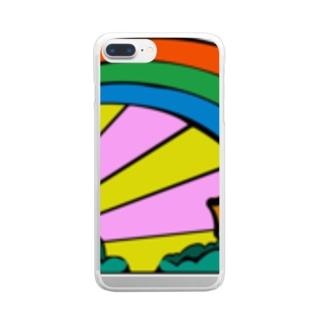 RAINBOW AND SUNSHINE クリアスマートフォンケース