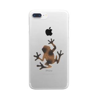 茶色いカエル Clear smartphone cases