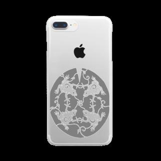 ツバメ堂のかえるのうた Clear smartphone cases