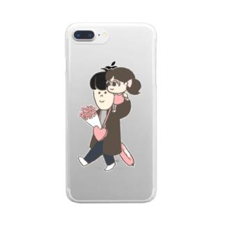 ステファニーとオッパ1 Clear smartphone cases