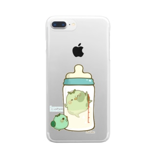 chackmo かっぱさん(哺乳瓶) Clear smartphone cases