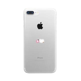 お届けコウノトリちゃん Clear smartphone cases