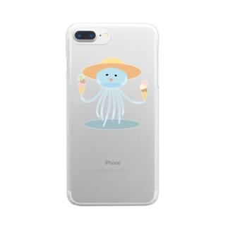 うかれくらげ Clear smartphone cases