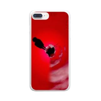 少女の赤い症状 Clear smartphone cases