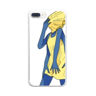 四本腕でしっかりガード Clear smartphone cases