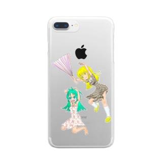 ハリセンアタック Clear smartphone cases