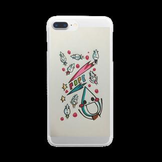 ポペ星人のポペ強襲 Clear smartphone cases