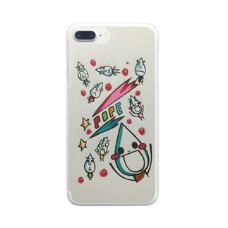 ポペ強襲 Clear smartphone cases