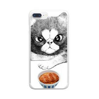 カツ丼食うか? Clear smartphone cases