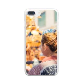 三社祭01 Clear smartphone cases