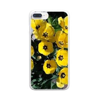 お庭にポイント Clear smartphone cases