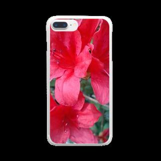 Dreamscapeの引き立つ赤さ Clear smartphone cases