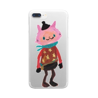 ねこびとさん(Sakura) Clear smartphone cases