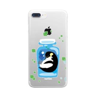 ペンギンの瓶詰めE Clear smartphone cases