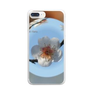 光景 sight737 梅  花 FLOWERS  宙玉(そらたま) Clear smartphone cases