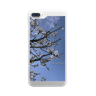 光景 sight738 梅  花 FLOWERS Clear smartphone cases
