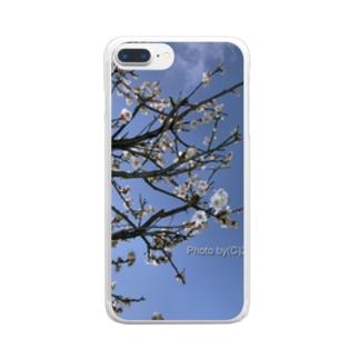 光景 sight738 梅  花 FLOWERS Clear smartphone cases
