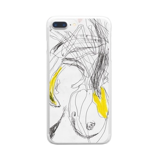 banana_lady Clear smartphone cases