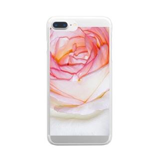 綾四季/花001 Clear smartphone cases