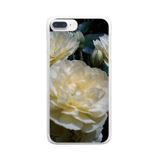 ホワイトクリーム Clear smartphone cases