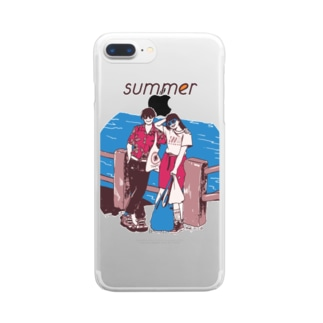じゃ、夏なんで Clear smartphone cases