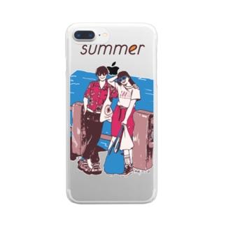 じゃ、夏なんで クリアスマートフォンケース