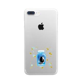 ペンギンの瓶詰めM Clear smartphone cases