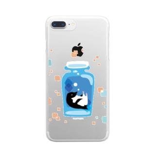 ペンギンの瓶詰めA Clear smartphone cases