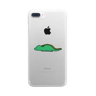 恐(くない)竜 Clear smartphone cases