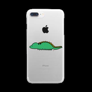 ゆるゆるなへんてこ屋の恐(くない)竜 Clear smartphone cases