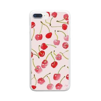 cherry_merry クリアスマートフォンケース