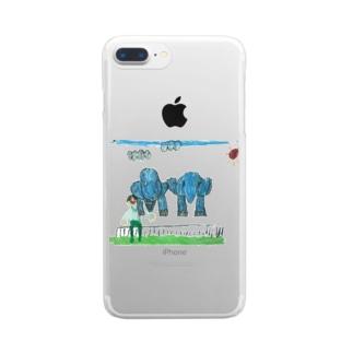 りしゆな:ゾウさん by はせりょう Clear smartphone cases