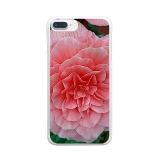 幾重にも重なるピンク Clear smartphone cases