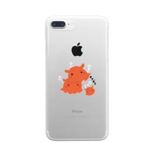 メンダコ Clear smartphone cases