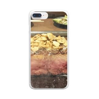 かたまり肉 クリアスマートフォンケース