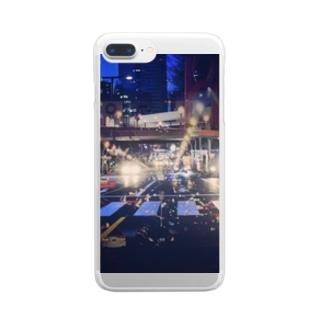 しんじゅくやけい Clear smartphone cases