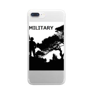 MILITARY  シルエット クリアスマートフォンケース