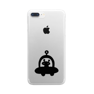 UFO飛来 Clear smartphone cases