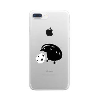 うずらちゃん Clear smartphone cases