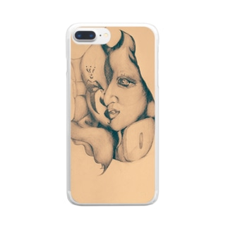 CrownおぶPierrot Clear smartphone cases